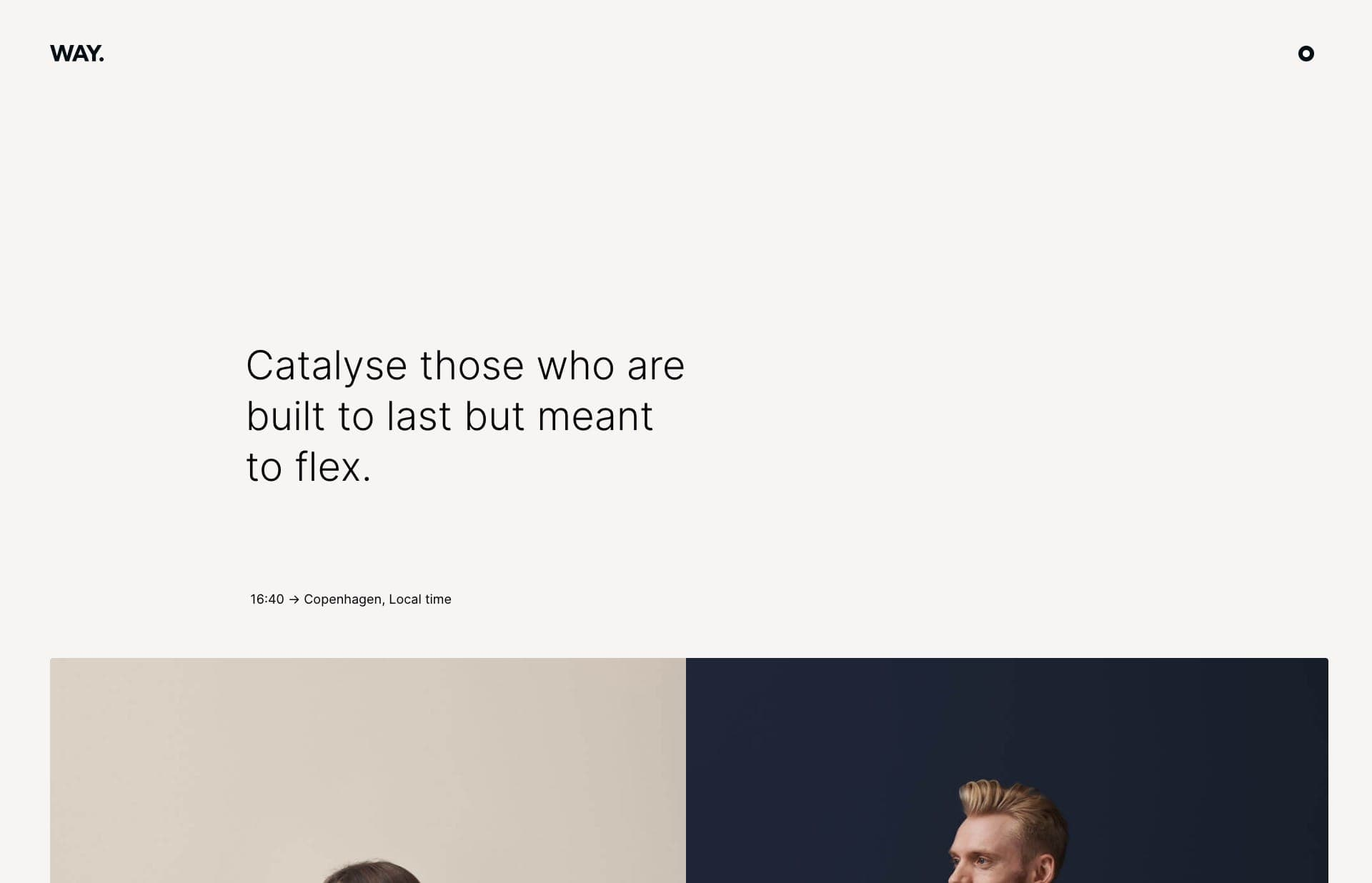 Screenshot of the website Way, featured on The Gallery, a curated collection of minimal websites