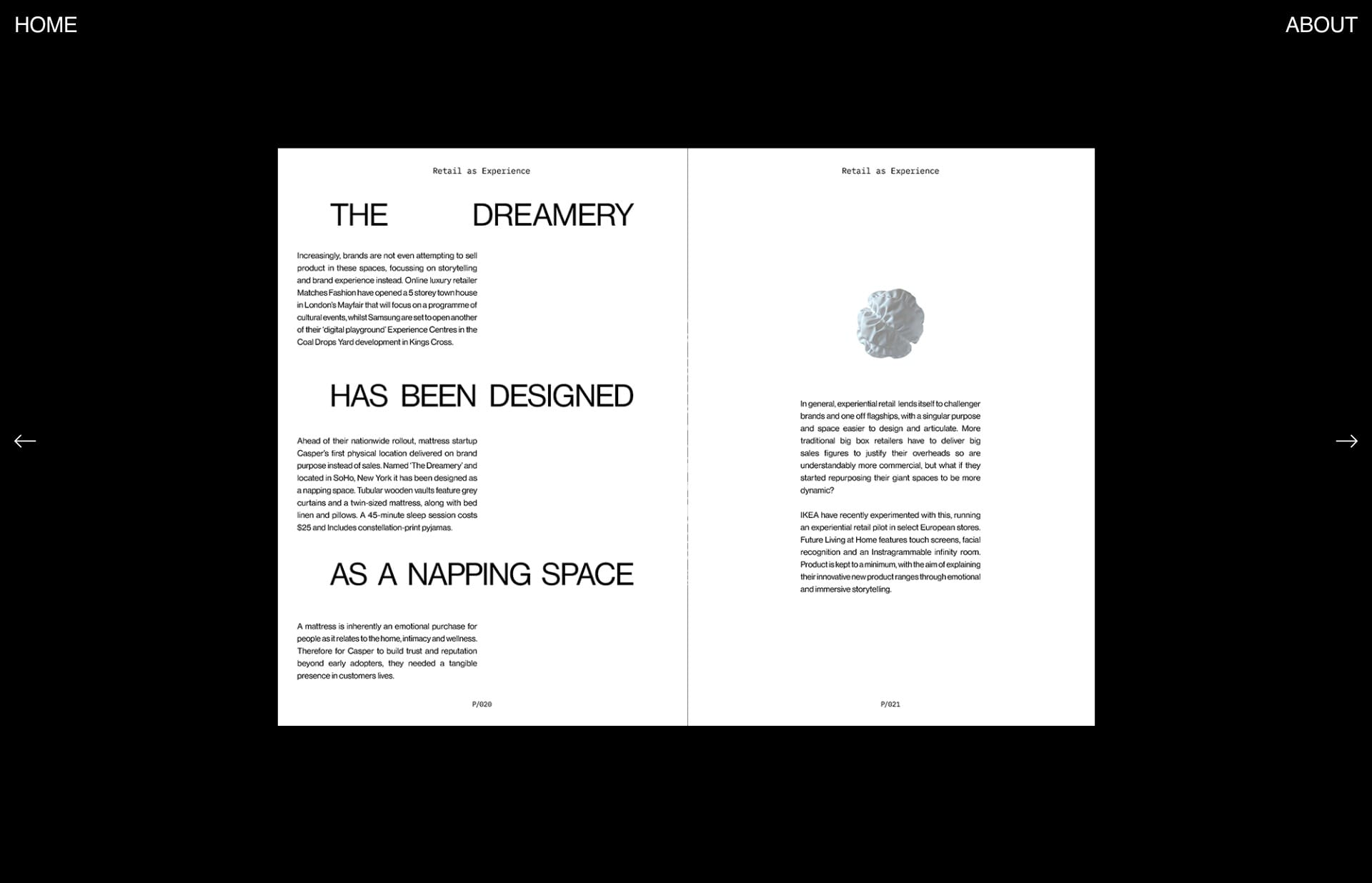 Screenshot of the website Alex Kyritsis, featured on The Gallery, a curated collection of minimal websites