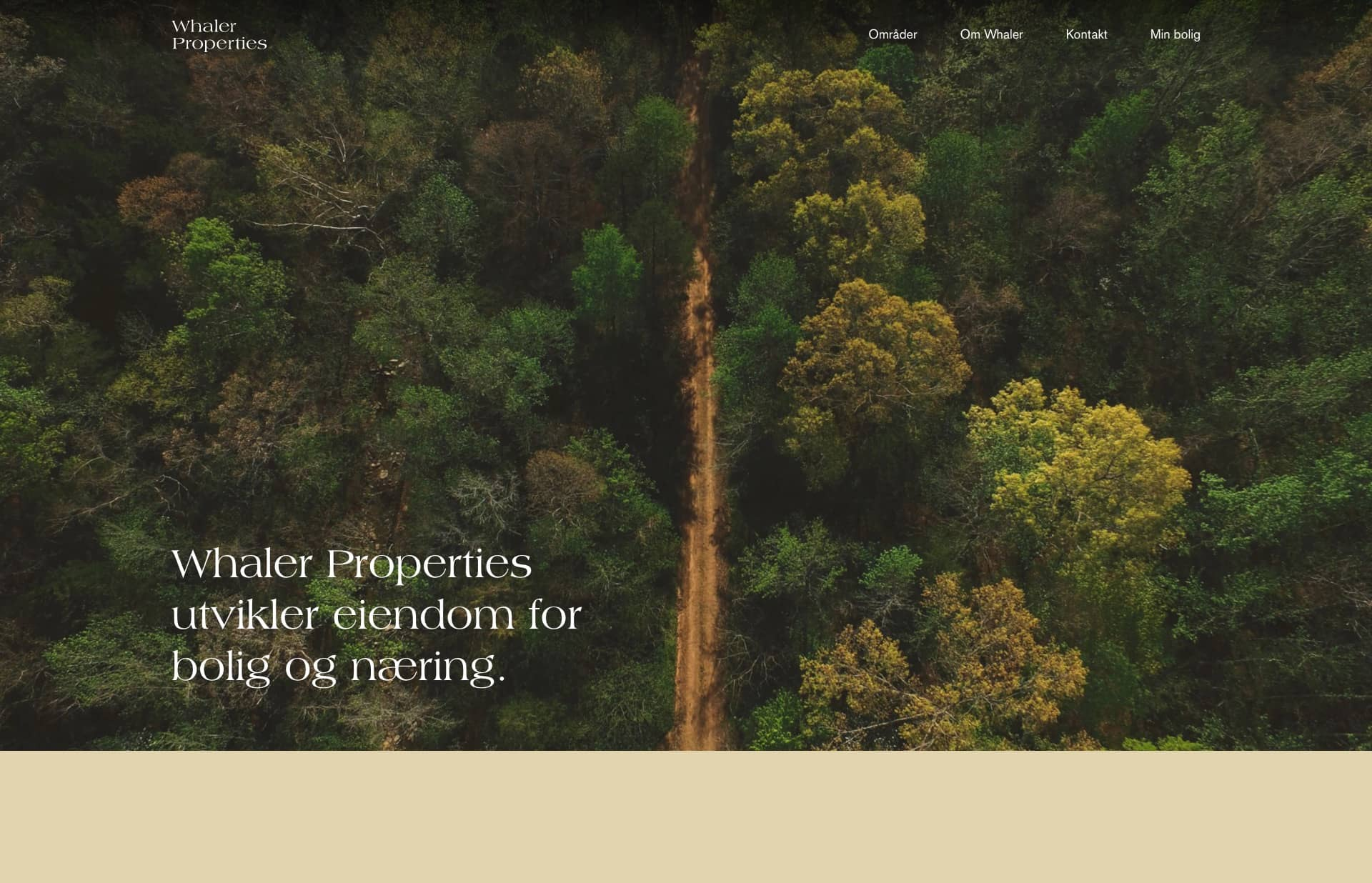 Screenshot of the website Whaler Properties, featured on The Gallery, a curated collection of minimal websites