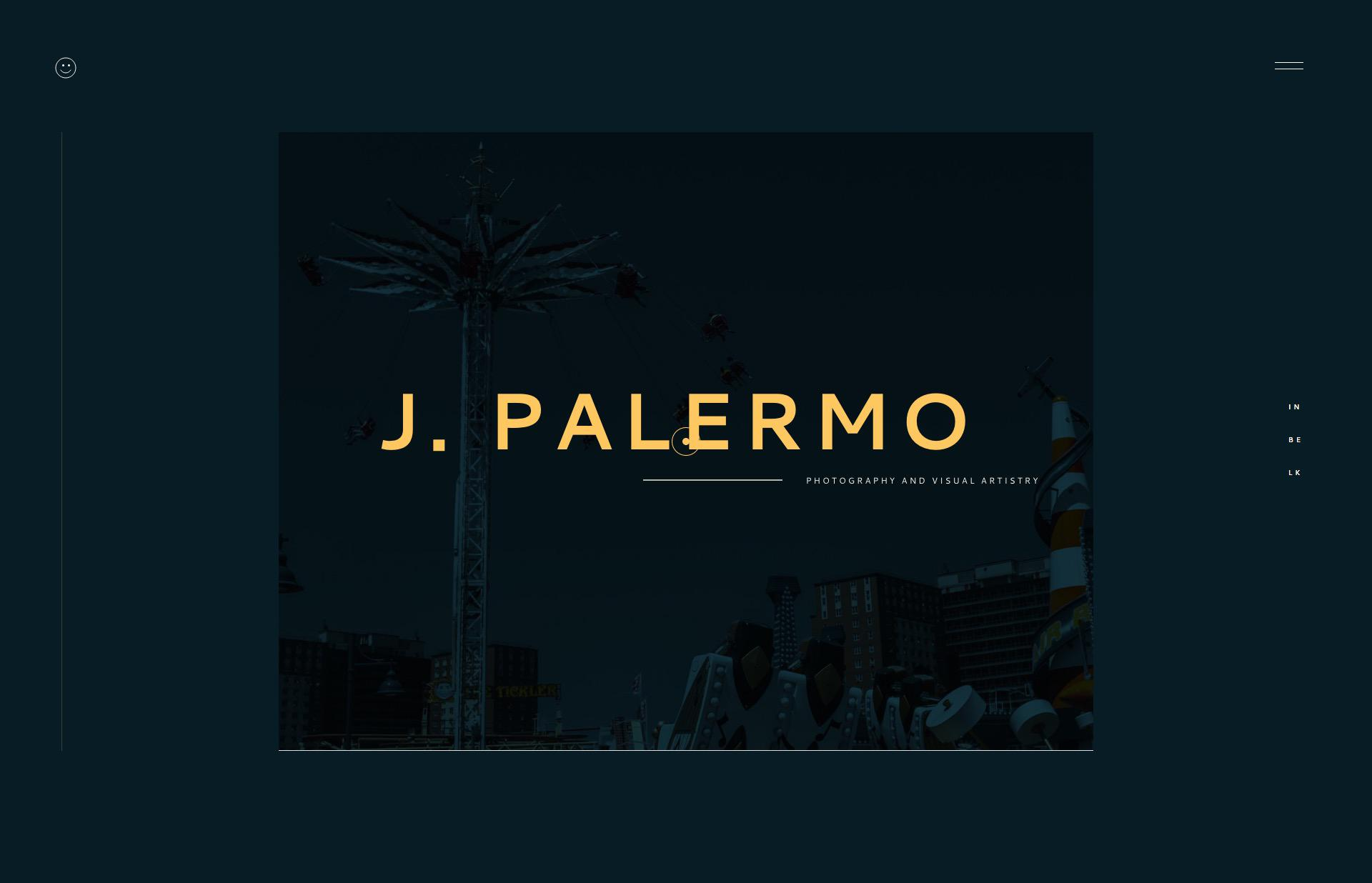 Screenshot of the website Jasper Palermo, featured on The Gallery, a curated collection of minimal websites