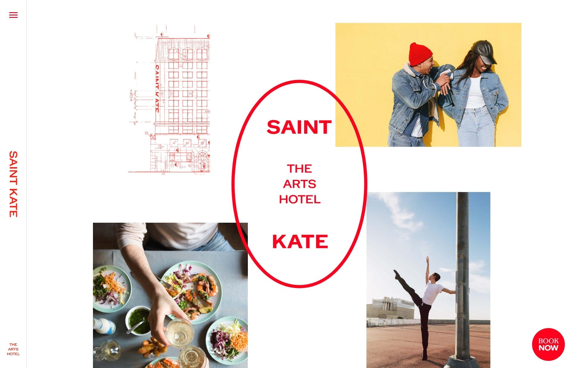 Screenshot of the website Saint Kate, featured on The Gallery, a curated collection of minimal websites
