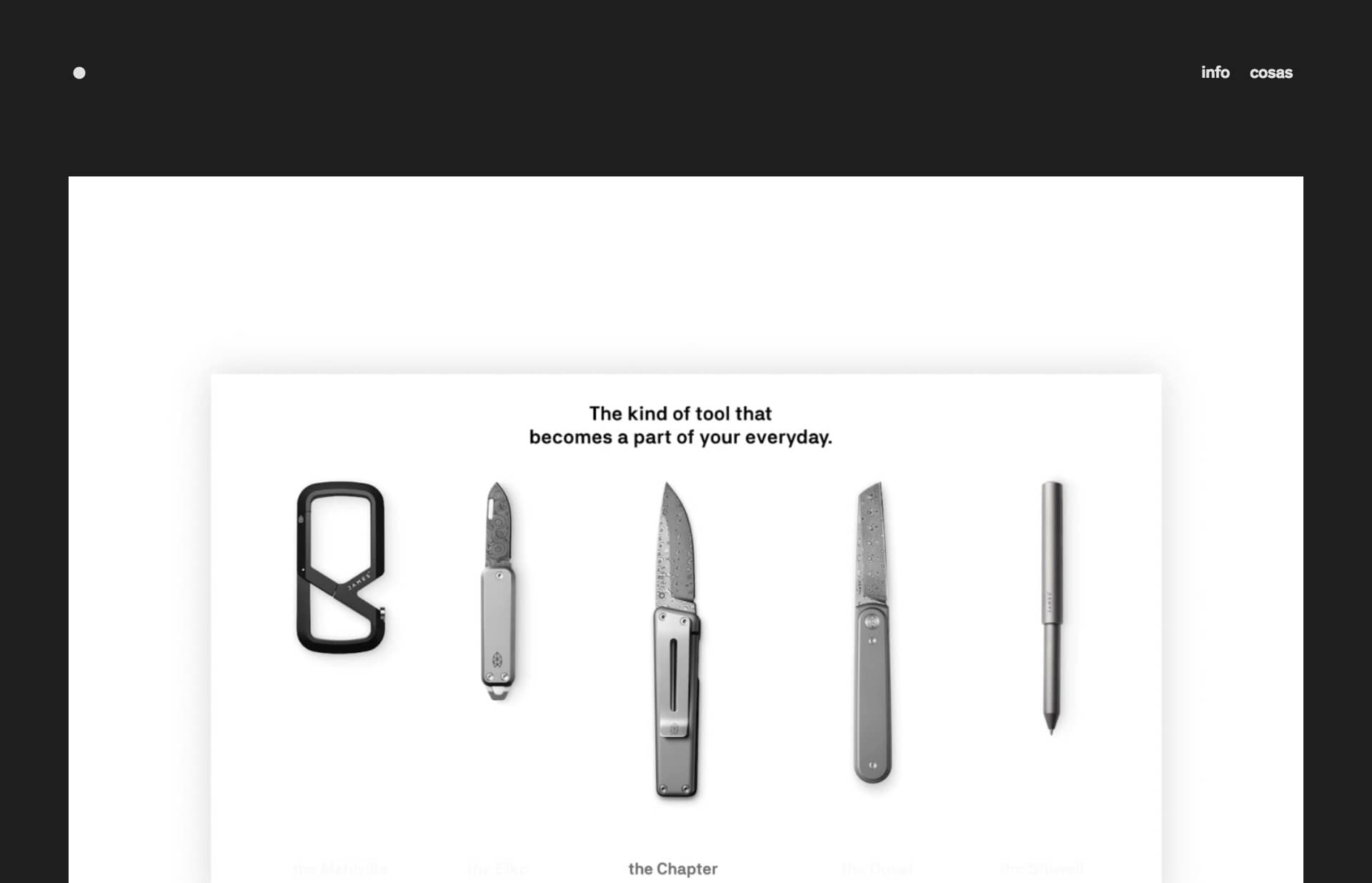 Screenshot of the website Zachary Allott, featured on The Gallery, a curated collection of minimal websites