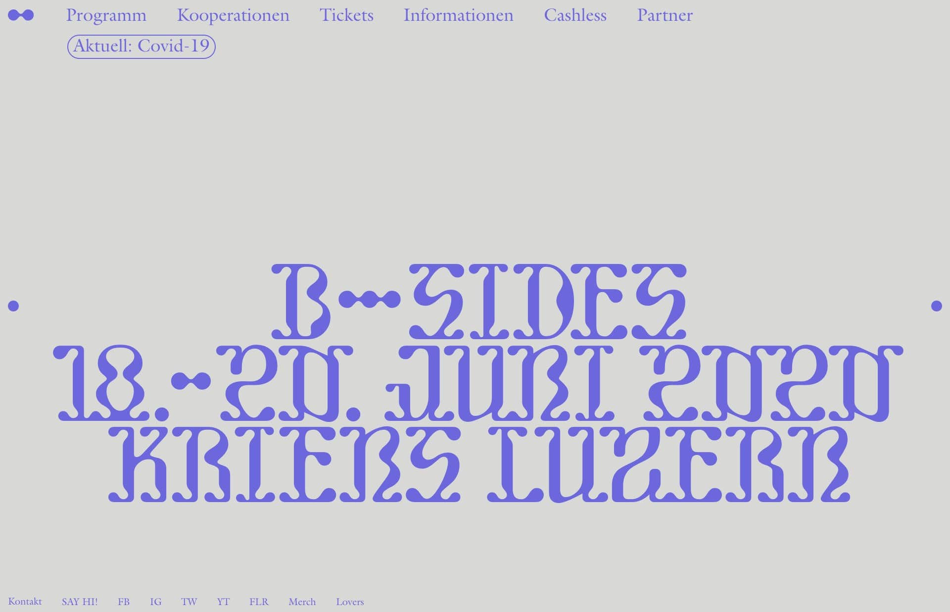 Screenshot of the website B-Sides, featured on The Gallery, a curated collection of minimal websites