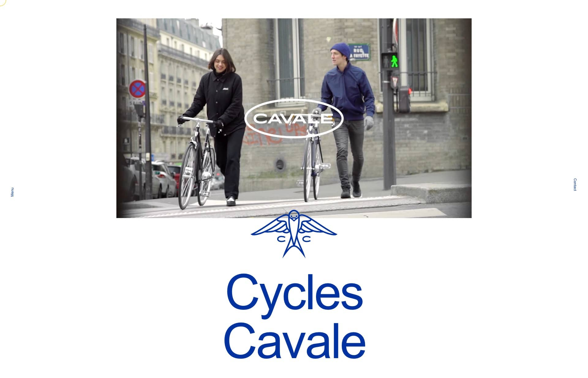 Screenshot of the website Cavale, featured on The Gallery, a curated collection of minimal websites