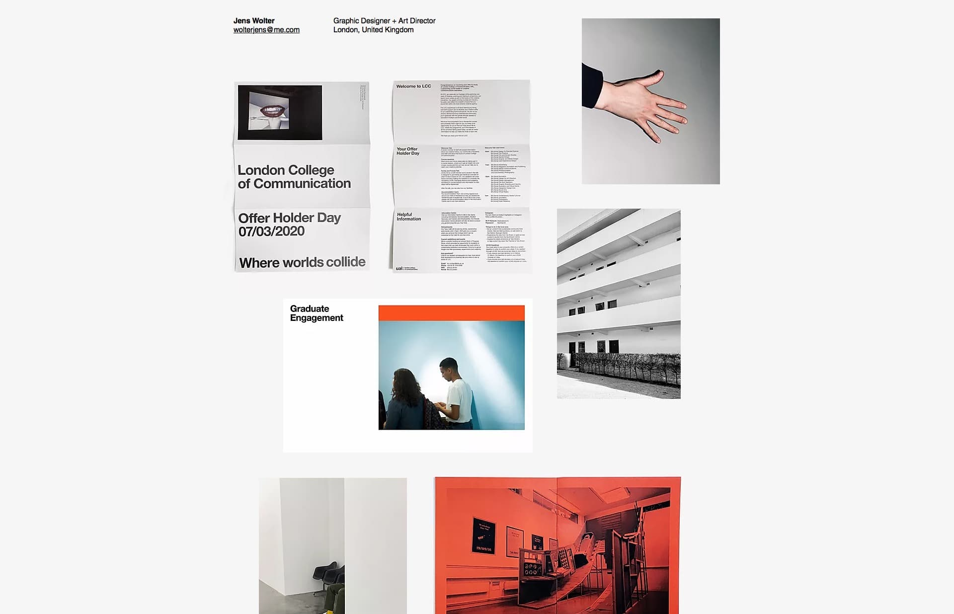 Screenshot of the website Jens Wolter, featured on The Gallery, a curated collection of minimal websites