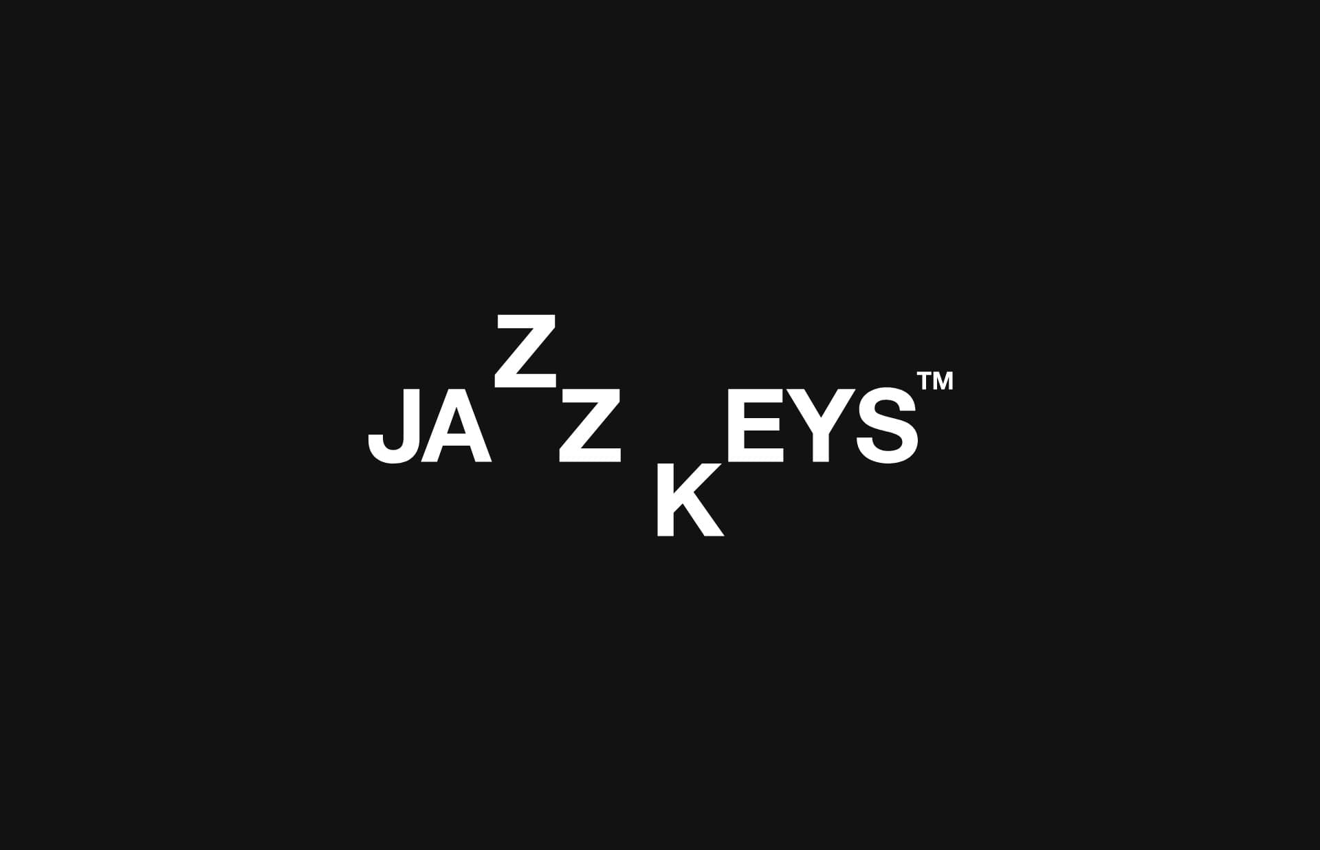 Screenshot of the website JazzKeys, featured on The Gallery, a curated collection of minimal websites