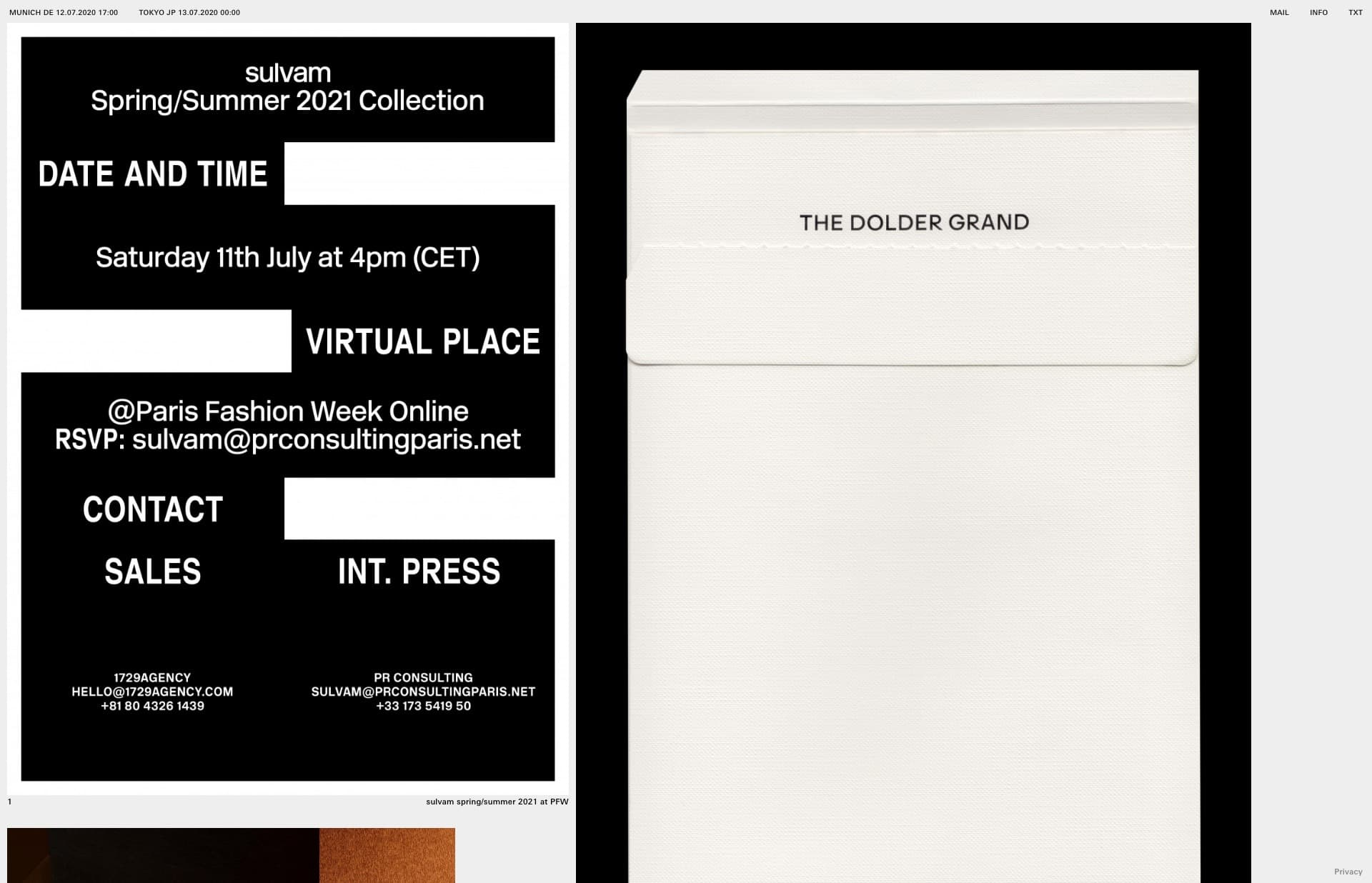 Screenshot of the website Ricardo Ferrol, featured on The Gallery, a curated collection of minimal websites