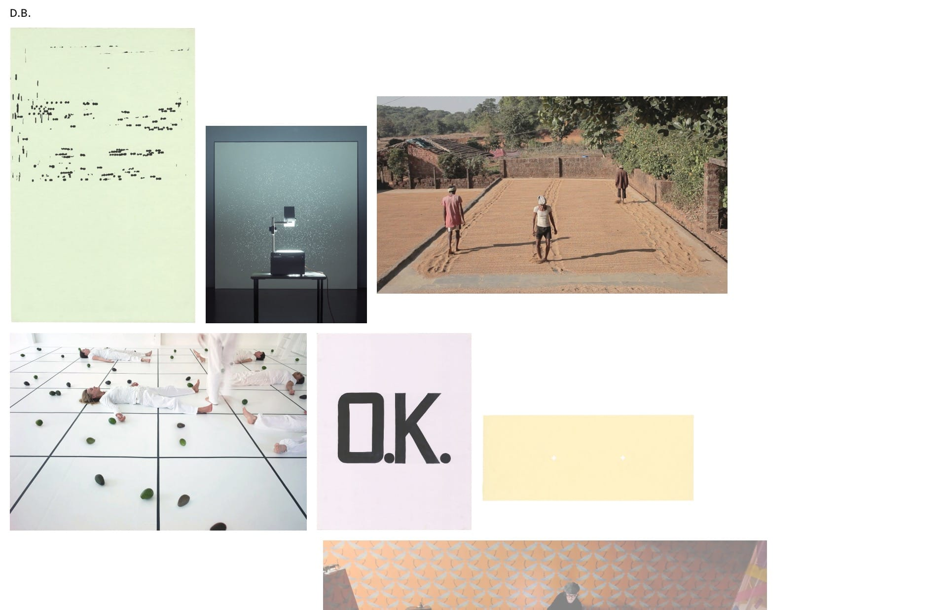 Screenshot of the website David Blamey, featured on The Gallery, a curated collection of minimal websites