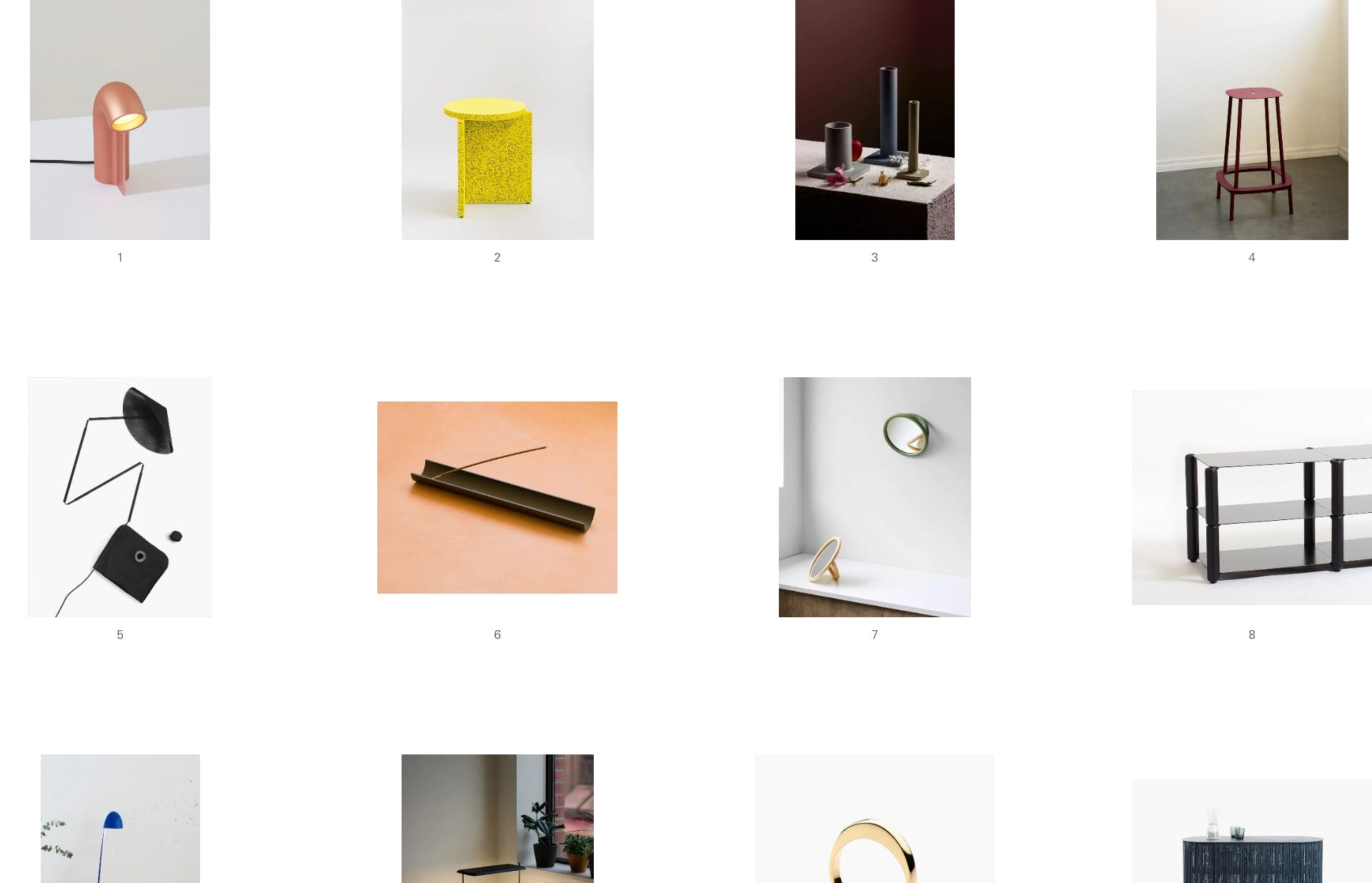 Screenshot of the website Calen Knauf, featured on The Gallery, a curated collection of minimal websites