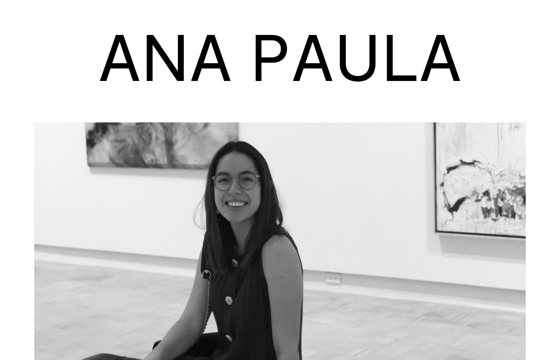 Screenshot of the website Ana Paula, featured on The Gallery, a curated collection of minimal websites