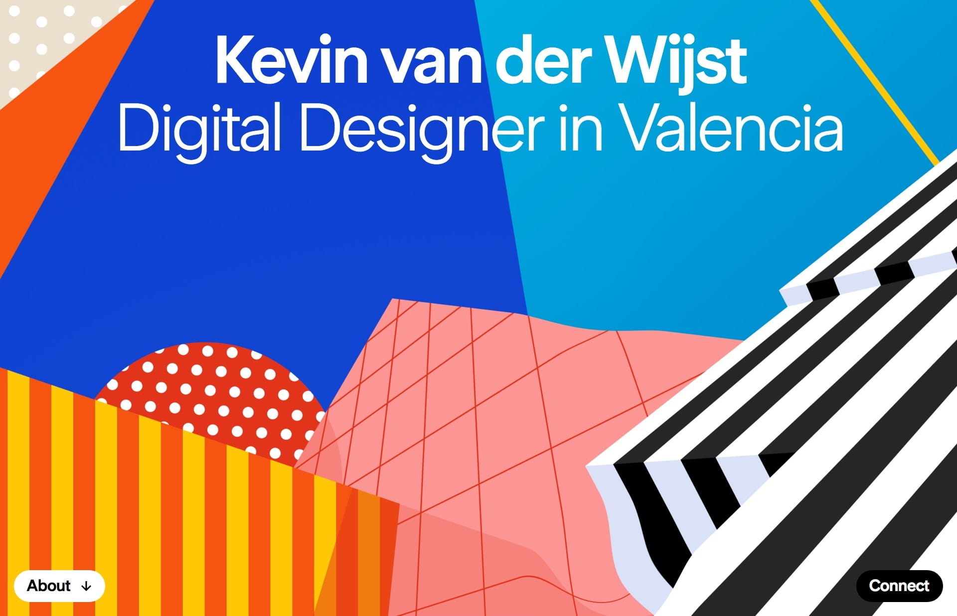 Screenshot of the website Kevin van der Wijst, featured on The Gallery, a curated collection of minimal websites