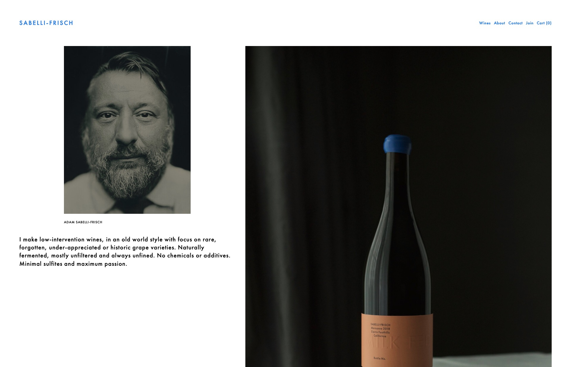 Screenshot of the website SABELLI-FRISCH, featured on The Gallery, a curated collection of minimal websites