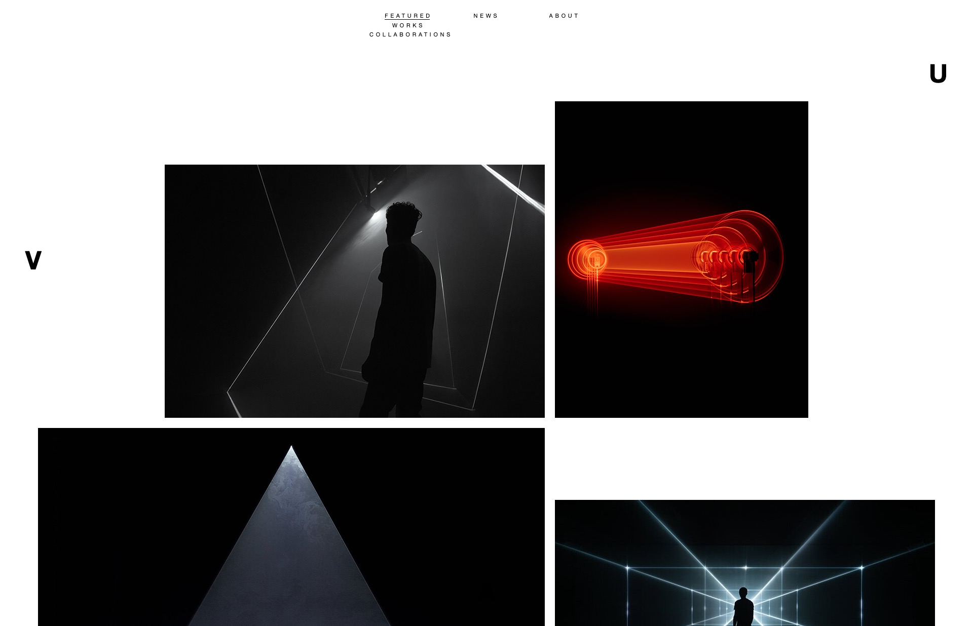 Screenshot of the website UVA, featured on The Gallery, a curated collection of minimal websites