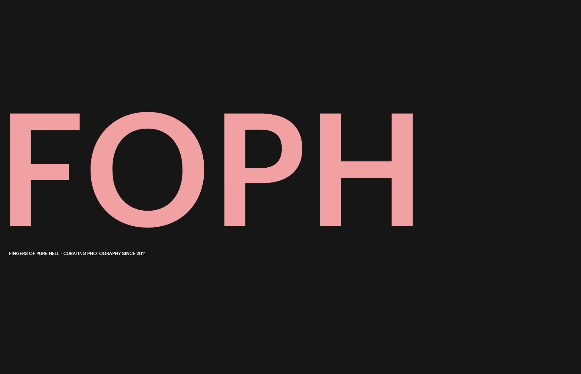 Screenshot of the website FOPH, featured on The Gallery, a curated collection of minimal websites