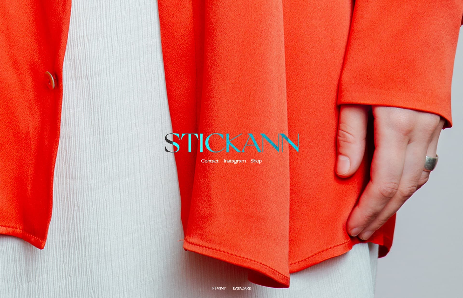 Screenshot of the website Stickann, featured on The Gallery, a curated collection of minimal websites
