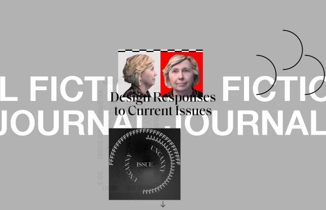 Screenshot of the homepage of the minimal website Fictional Journal, published on The Gallery on the 2019-09-11 and tagged with the tags magazine, brutal, gray, serif