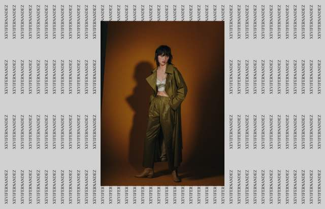Screenshot of the homepage of the minimal website Xevi Fernandez, published on The Gallery on the 2019-11-15 and tagged with the tags fashion, unusual navigation, serif, colourful