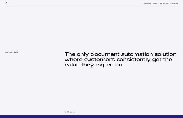 Screenshot of the homepage of the minimal website Document Drafter, published on The Gallery on the 2020-10-26 and tagged with the tags tool, typographic