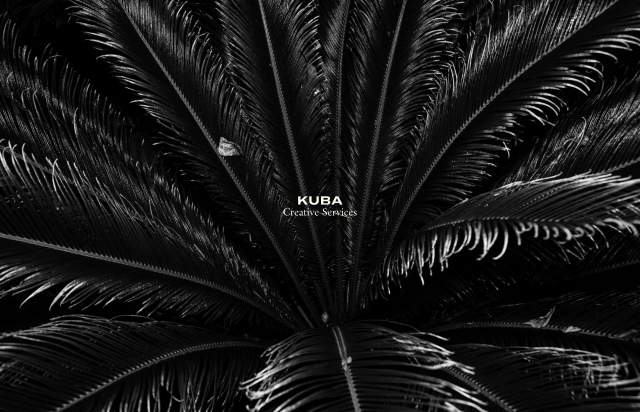 Screenshot of the homepage of the minimal website Kuba, published on The Gallery on the 2020-11-12 and tagged with the tags agency, fullscreen, portfolio