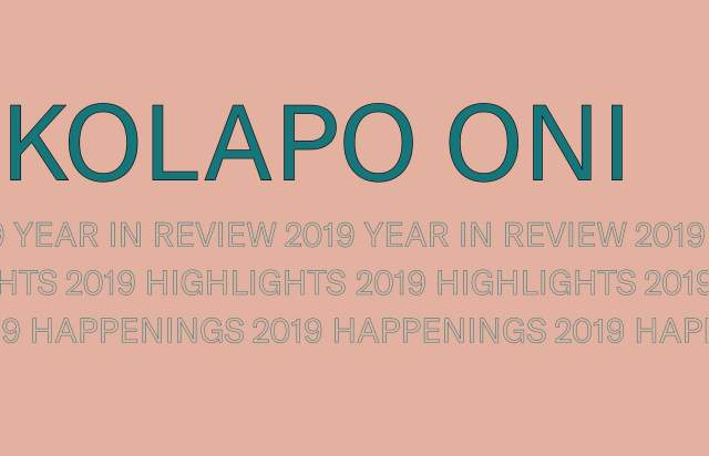 Screenshot of the homepage of the minimal website Year In Review, published on The Gallery on the 2020-01-22 and tagged with the tags personal, typographic, colourful, sans serif, outline