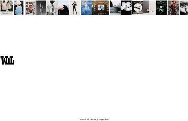 Screenshot of the homepage of the minimal website WIL, published on The Gallery on the 2021-09-15 and tagged with the tags portfolio, studio